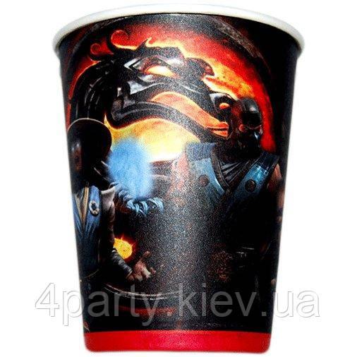 Стаканы праздничные Mortal Kombat 6 шт 170816-008