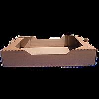 Лоток Клубничный бурый 573*370*100 мм из гофрокартона для фруктов ягод овощей под пинетки 500 г