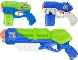 Водяные пистолеты, мыльные пузыри, сачки для бабочек