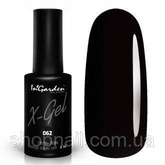 Гель лак INGARDEN X-GEL (черный) № 062, 8 мл, фото 2