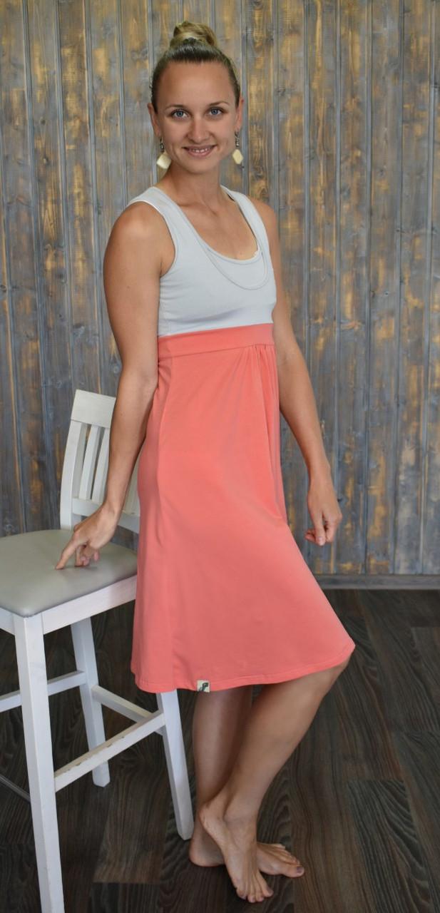 Плаття-сарафан з секретом для годування For Kids коралове