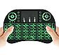 Клавіатура wireless KEYBOARD MWK08/i8 LED touch з підсвічуванням Green, фото 2
