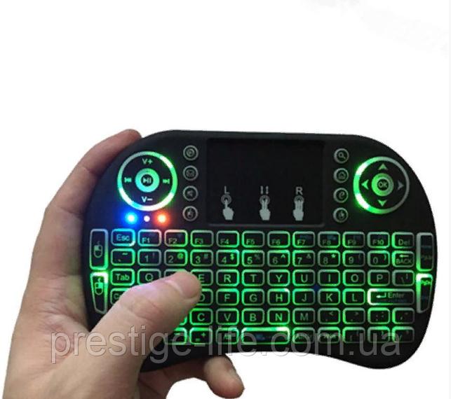 Клавіатура wireless KEYBOARD MWK08/i8 LED touch з підсвічуванням Green