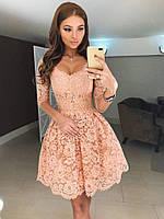 """Платье """"Нежность""""розового цвета 42-44, 44-46 р-р."""