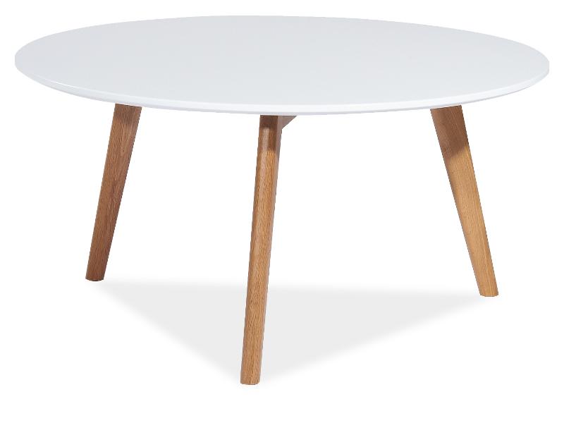Журнальный столик MILAN L1 Signal белый/дуб натуральный