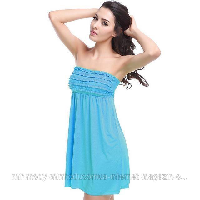 Пляжное платье с резинкой AL6379 -20  9 цветов