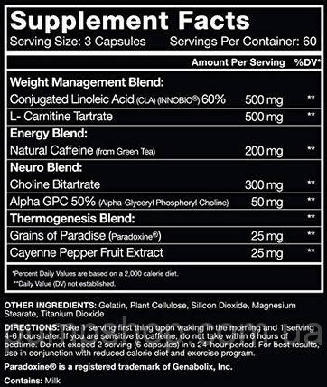 Жиросжигатель RSP Nutrition Quadralean Thermogenic 90 капс., фото 2