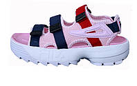 Женские сандалии Fila Disruptor Sandals Pink/Red Line