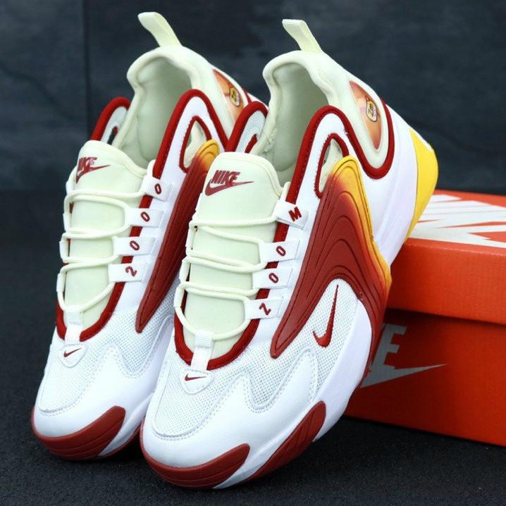 8c2f22ac1 Мужские Кроссовки Nike Zoom 2K, Найк Зум белые с красным, реплика / Реплика  1