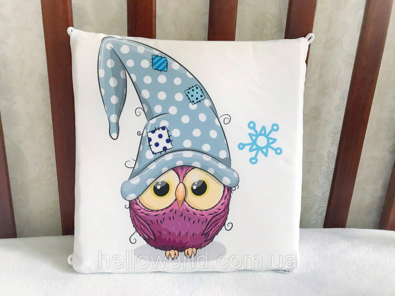 Бортик Фиолетовая сова в голубой шапке