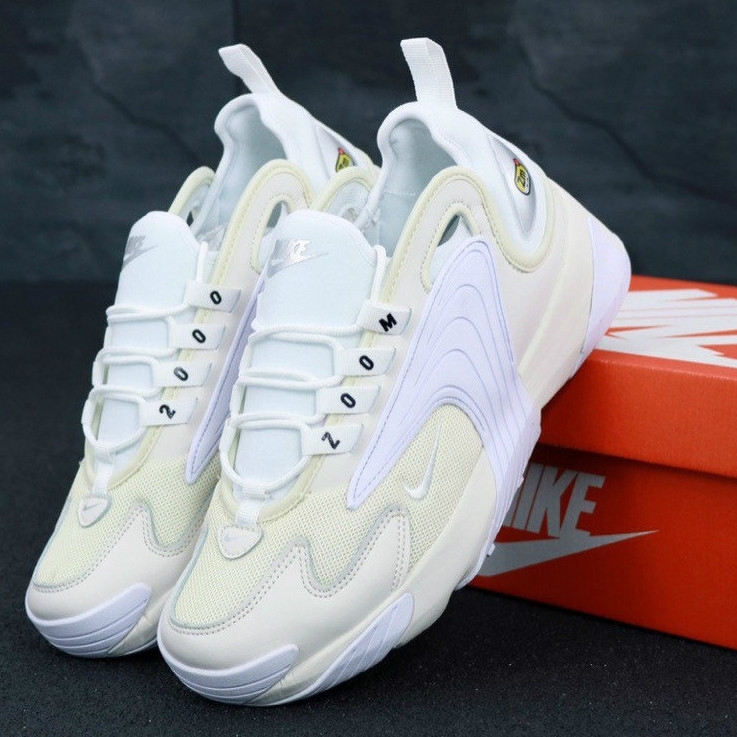 9a9a63794 Мужские Кроссовки Nike Zoom 2K, Найк Зум белые / Реплика 1:1 Оригинал -