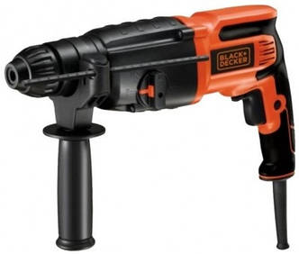 Перфоратор BLACK&DECKER BDHR26K SDS-Plus, 800Вт, 2.4Дж, 0-4000об/мин.