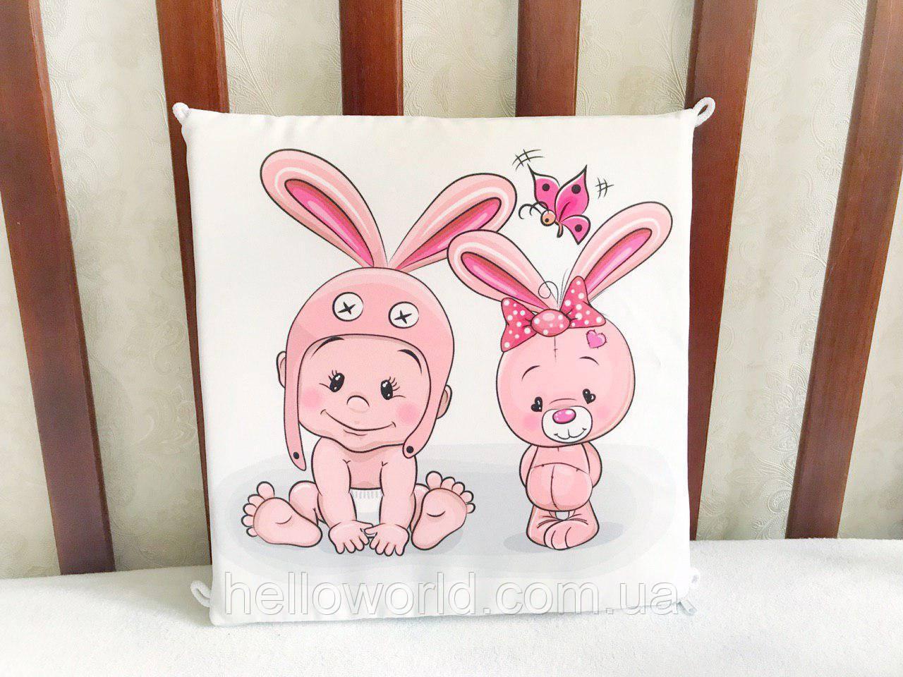 Бортик Ребёнок и розовый зайка