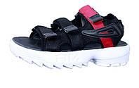 Женские сандалии Fila Disruptor Sandals Black/Red