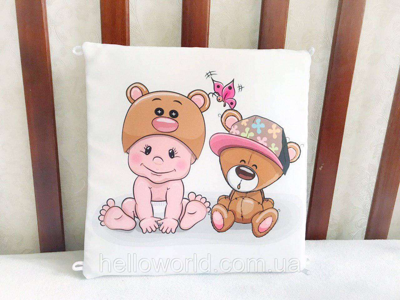 Бортик Ребёнок и мишка в кепке