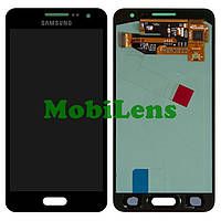 Samsung A300, A300F, Galaxy A3 (2015) Дисплей+тачскрин(модуль) черный (темно-синий) Original (AMOLED)