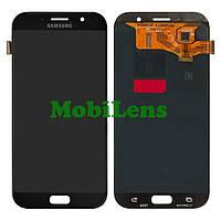 Samsung A720, A720F, Galaxy A7 (2017) Дисплей+тачскрин(модуль) черный Original (AMOLED)