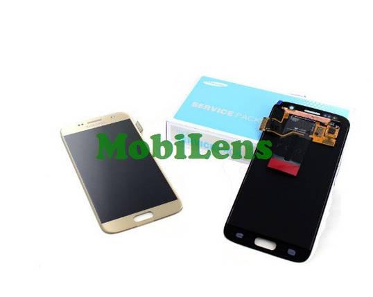Samsung G930, GH97-18523, G930F, Galaxy S7 Дисплей+тачскрин(модуль) золотистый Original (Service Pack), фото 2