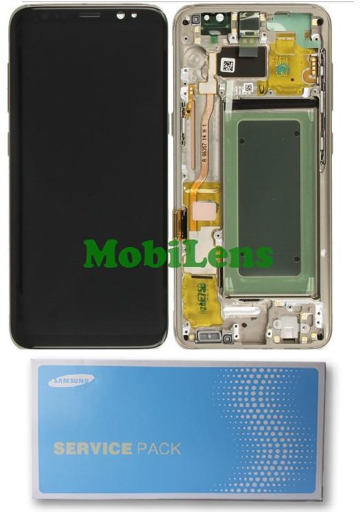 Samsung G950, GH97-20473, G950F, Galaxy S8 Дисплей+тачскрин в золотистой рамке Maple Gold Original (Service Pack)