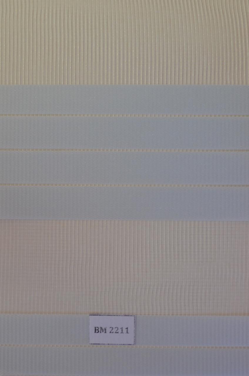 Рулонні штори день-ніч, світло-блакитний ВМ-2211