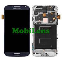 Samsung i9500, Galaxy S4 Дисплей+тачскрин(модуль) темно-синий в рамке Original (AMOLED)