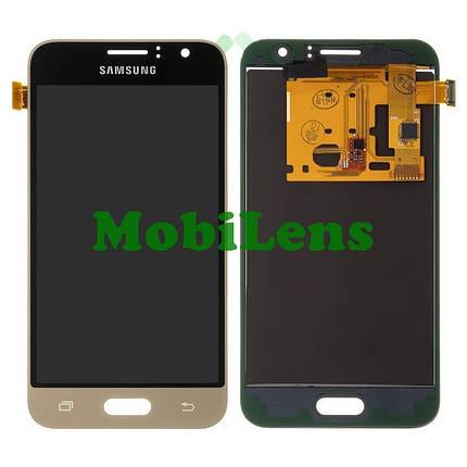 Samsung J120, J120H, Galaxy J1 (2016) Дисплей+тачскрин(модуль) золотистый Сopy (TFT *с регулировкой яркости), фото 2