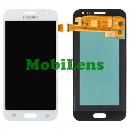 Samsung J200, J200H, Galaxy J2 Дисплей+тачскрин(модуль) белый Original (AMOLED), фото 2