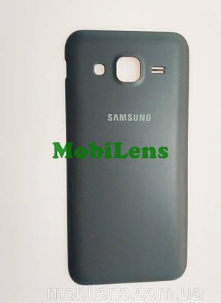 Samsung J200, J200H, Galaxy J2 Задняя крышка черная, фото 2
