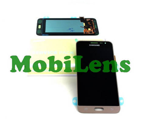 Samsung J320, GH97-18414, GH97-18748, J310, Galaxy J3 (2016) Дисплей+тачскрин золотистый Original Service, фото 2