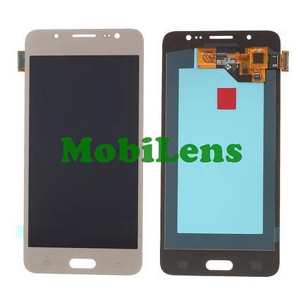 Samsung J510, J510H, Galaxy J5 (2016) Дисплей+тачскрин(модуль) золотистый High Copy (OLED), фото 2