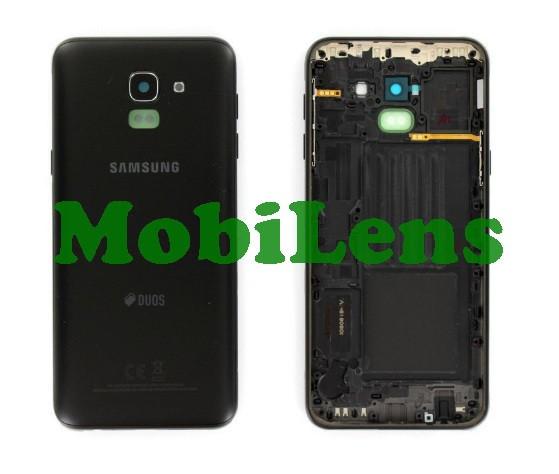Samsung J600, J600F, Galaxy J6 (2018) Задняя крышка черная