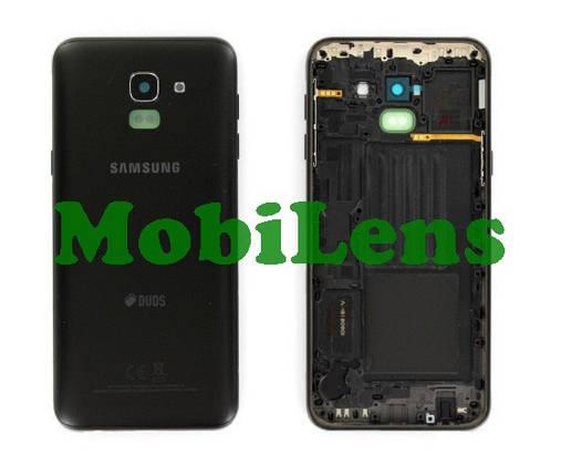 Samsung J600, J600F, Galaxy J6 (2018) Задняя крышка черная, фото 2