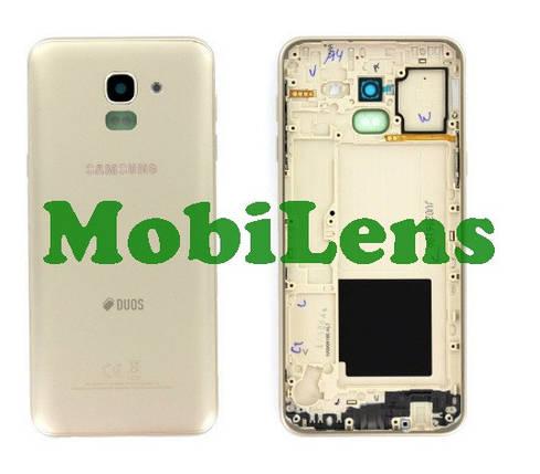 Samsung J600, J600F, Galaxy J6 (2018) Задняя крышка золотистая, фото 2