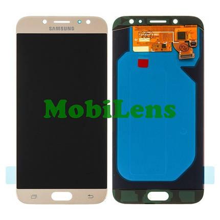 Samsung J730, J730F, Galaxy J7 (2017) Дисплей+тачскрин(модуль) золотистый High Copy (OLED), фото 2