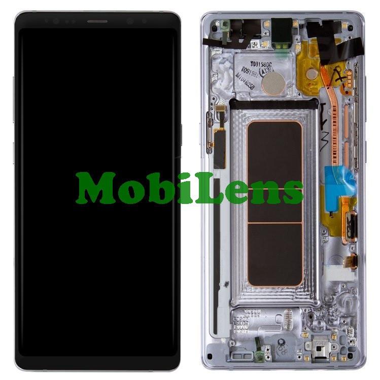 Samsung N950, N950F, Galaxy Note 8 Дисплей+тачскрин(модуль) в серой рамке Orchid Grey Original (AMOLED)