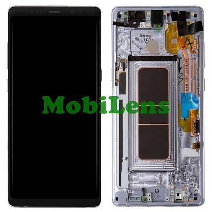 Samsung N950, N950F, Galaxy Note 8 Дисплей+тачскрин(модуль) в серой рамке Orchid Grey Original (AMOLED), фото 2