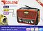 Радиоприёмник с солнечной панелью 3в1 FM GOLON RX-455S, фото 6