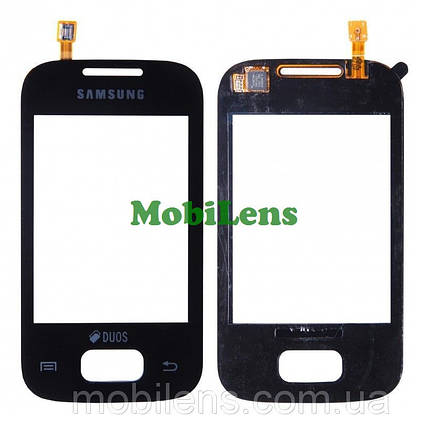 Samsung S5300, S5302 Тачскрин (сенсор) чёрный, фото 2