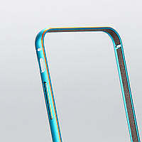 Бампер Gold Blue алюминиевый для iphone 6, фото 1