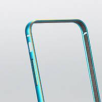 Бампер Gold Blue алюминиевый для iphone 6