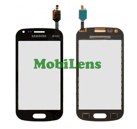 Samsung S7580, S7582 Galaxy Trend Plus Тачскрин (сенсор) черный, фото 2
