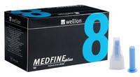 УНИВЕРСАЛЬНЫЕ иглы Wellion MEDFINE plus для инсулиновых шприц-ручек 8 мм ( 31G x 0,25 мм)