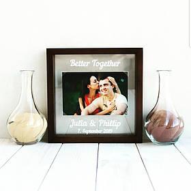 """Набір для пісочної цеемонии """"Фото молодих"""" для весільної церемонії пісочної"""