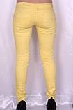 Цветные джинсы желтого цвета, фото 3
