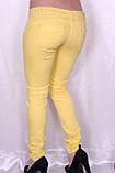 Цветные джинсы желтого цвета, фото 2