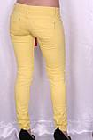 Цветные джинсы желтого цвета, фото 4