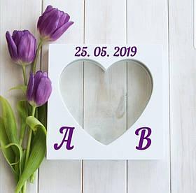 """Набір пісочної церемонії на весілля """"Серце на двох"""" для весільної церемонії пісочної"""