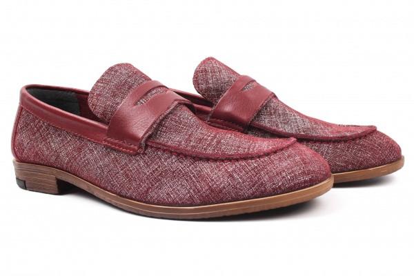 Туфли мужские лоферы Ridge натуральная кожа, цвет бордо