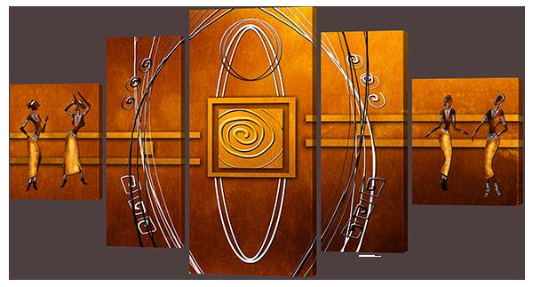 Модульна картина Interno Штучний полотно Стиль стародавнього Єгипту 108х57см (Z848S)