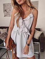 Женское нежное платье с рюшами, женские платья, летние женские платья